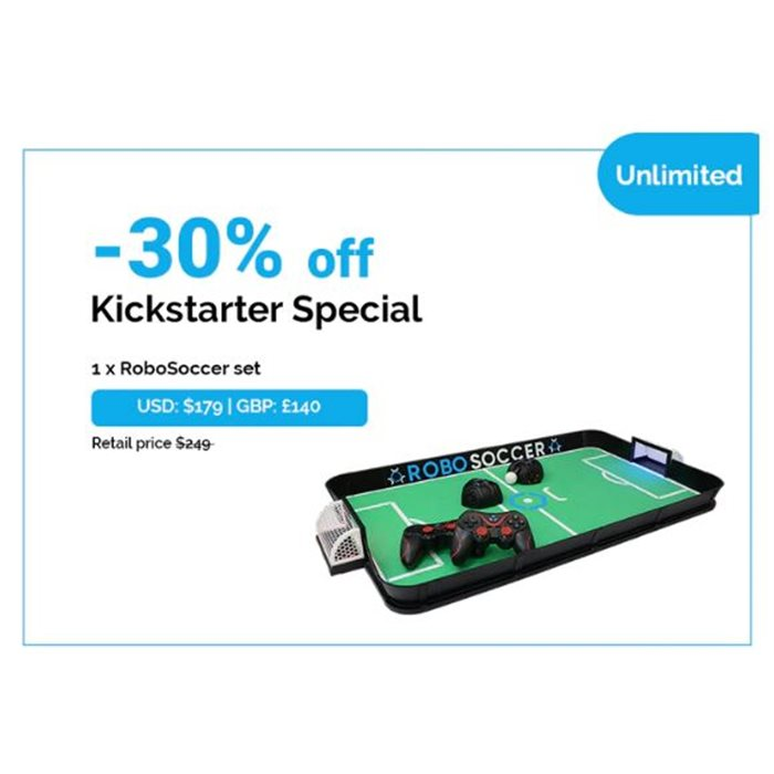 Kickstarter Special   1x RoboSoccer set