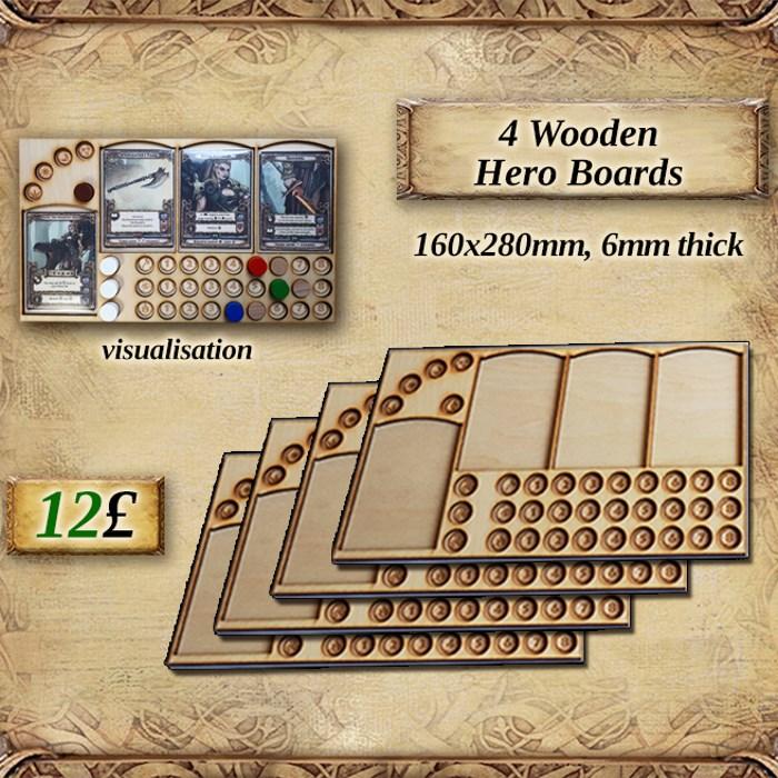 Wooden Hero Boards (x4)