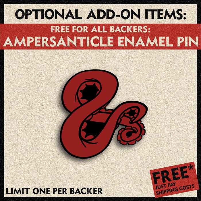 Free Enamel Pin for Kickstarter Backers Only
