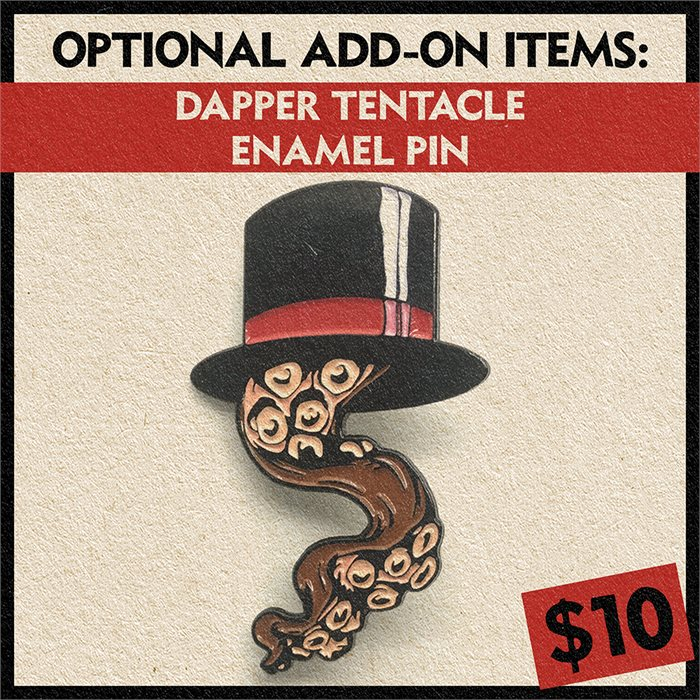 Deeply Dapper Tentacle Enamel Pin