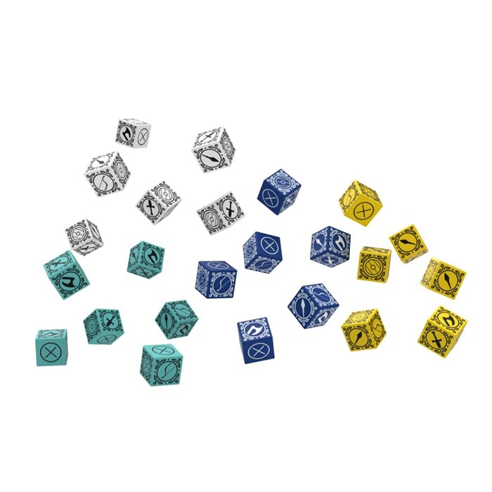 Dice in players colors .can