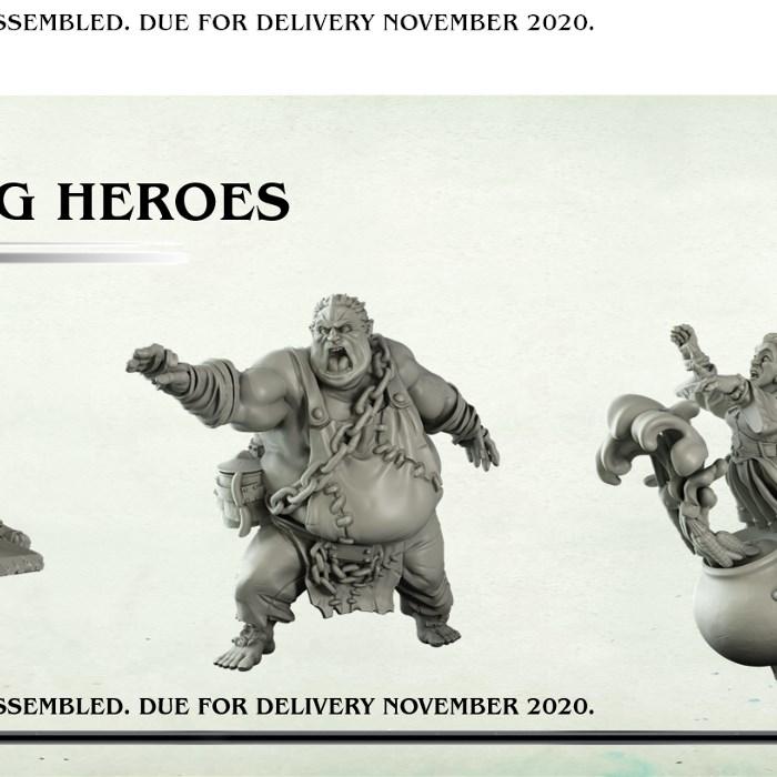 Resin Halfling Heroes