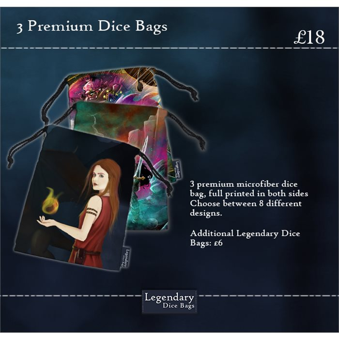 Three Premium Dice Bags