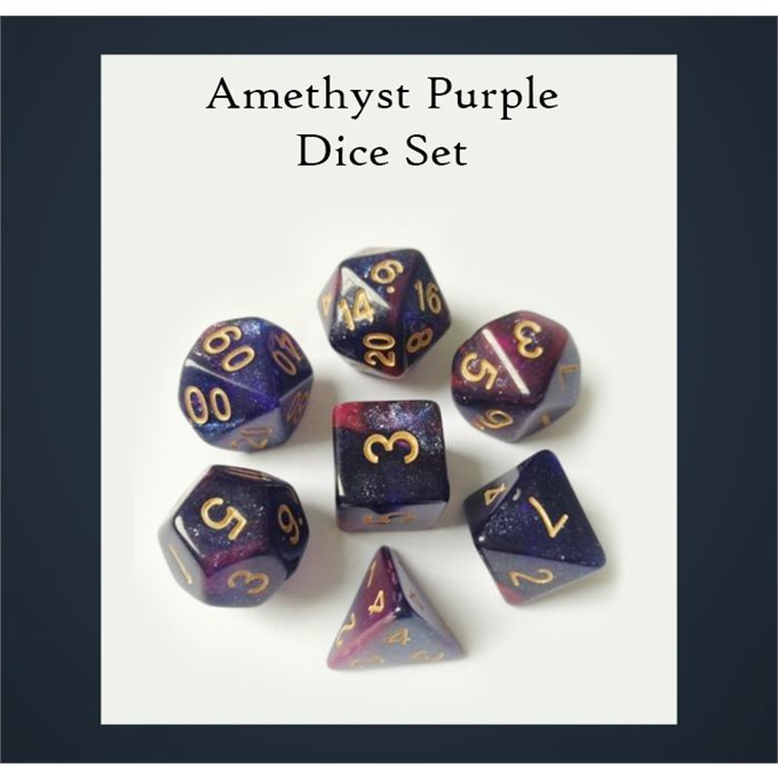 Amethyst Purple Dice Set
