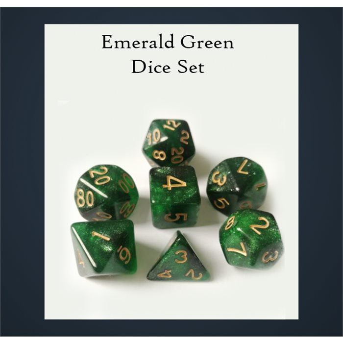 Emerald Green Dice Set