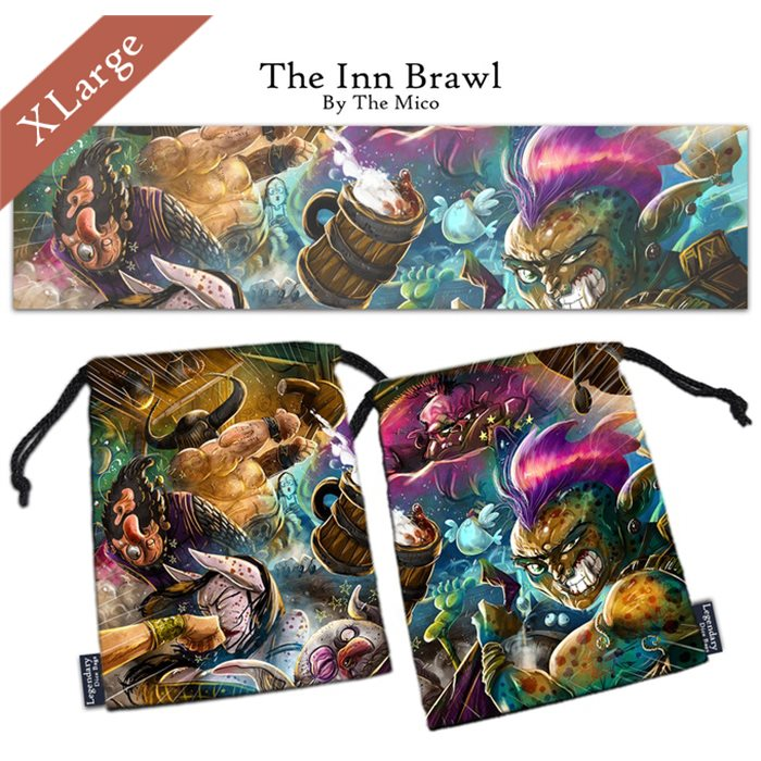 "Extra Large ""The Inn Brawl"" Dice Bag"