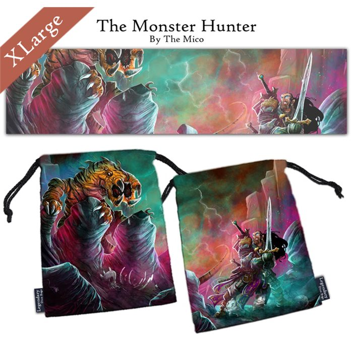 "Extra Large ""The Monster Hunter"" Dice Bag"