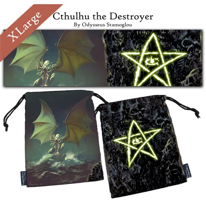 "Extra Large ""Cthulhu the Destroyer"" Dice Bag"