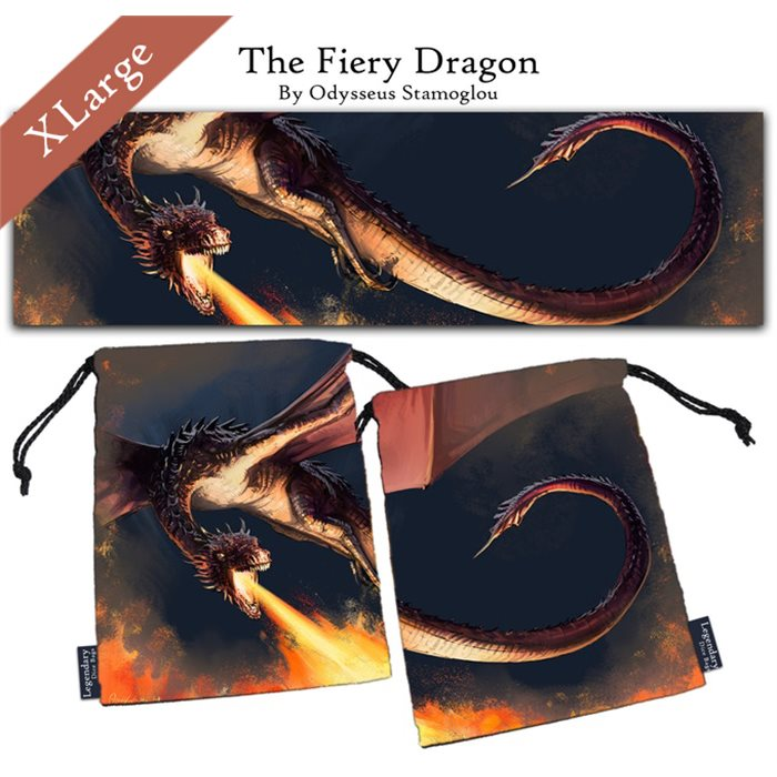 "Extra Large ""The Fiery Dragon"" Dice Bag"