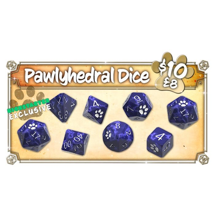 Pawlyhedral Dice