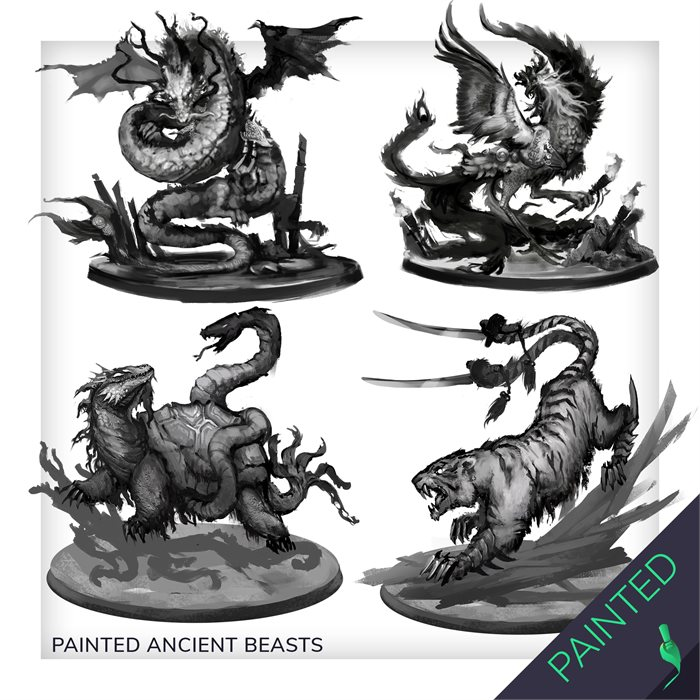 PAINTED ANCIENT BEASTS