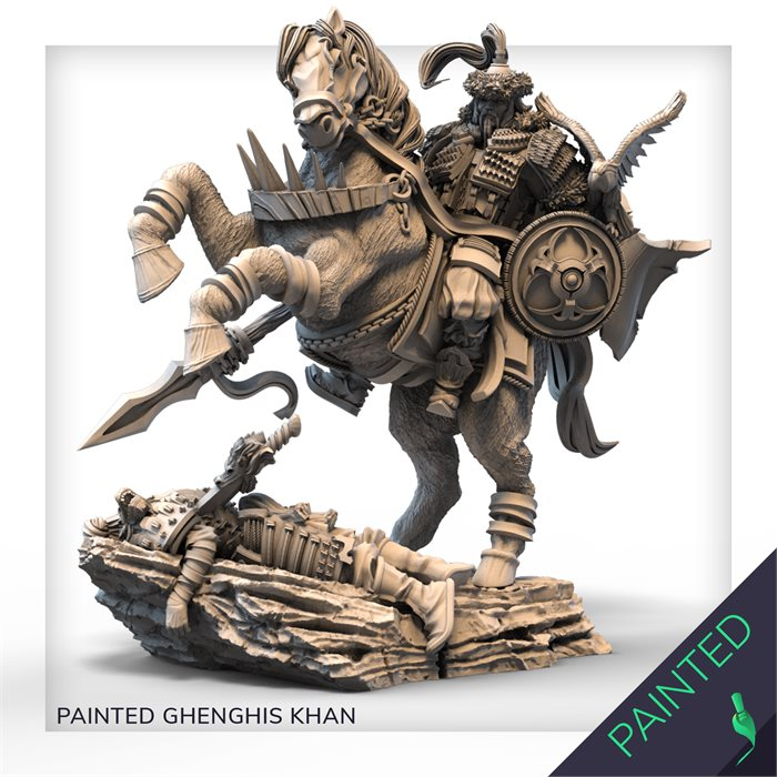 PAINTED GENGHIS KHAN