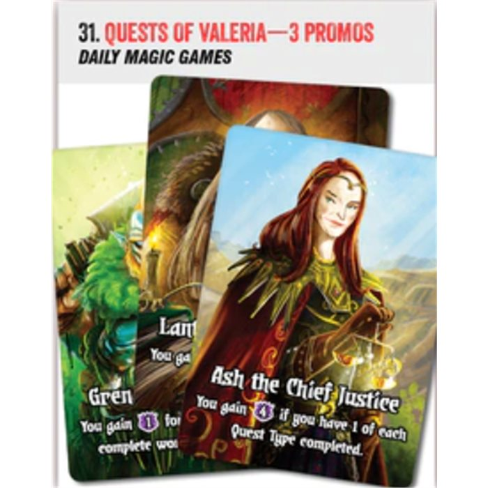 Quests of Valeria - 3 promo cards