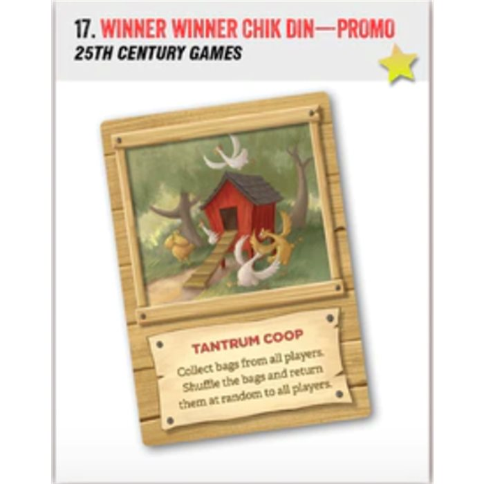 Winner Winner Chicken Dinner - promo card
