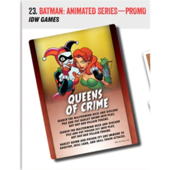 Batman: The Animated Series - promo card