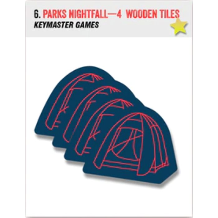 PARKS Nightfall - 4 wooden tokens