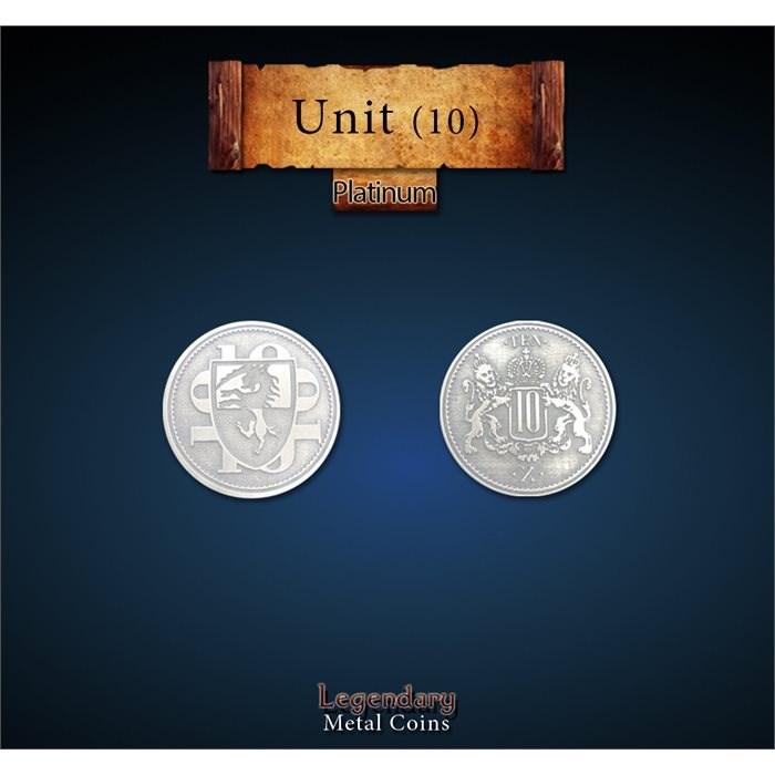 Platinum 10 Unit Coins