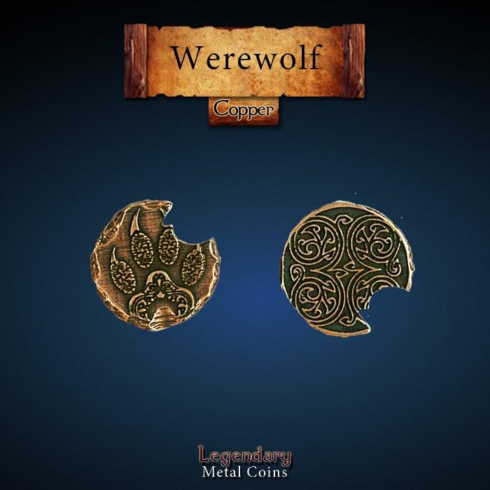 Werewolf Copper Coin