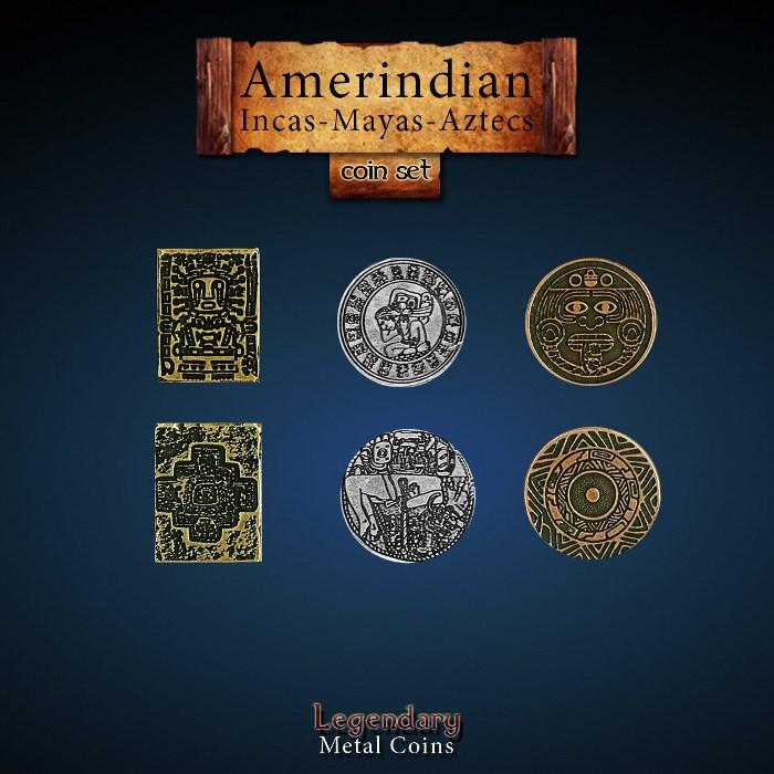 Amerindian Coin Set