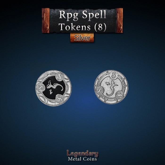 RPG Spell Token 8 - BLACK