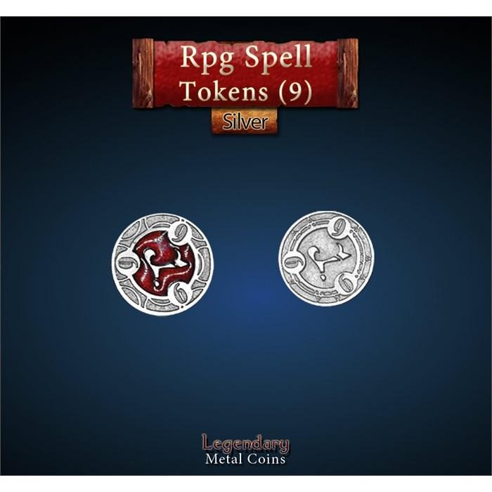 RPG Spell Token 9 - RED