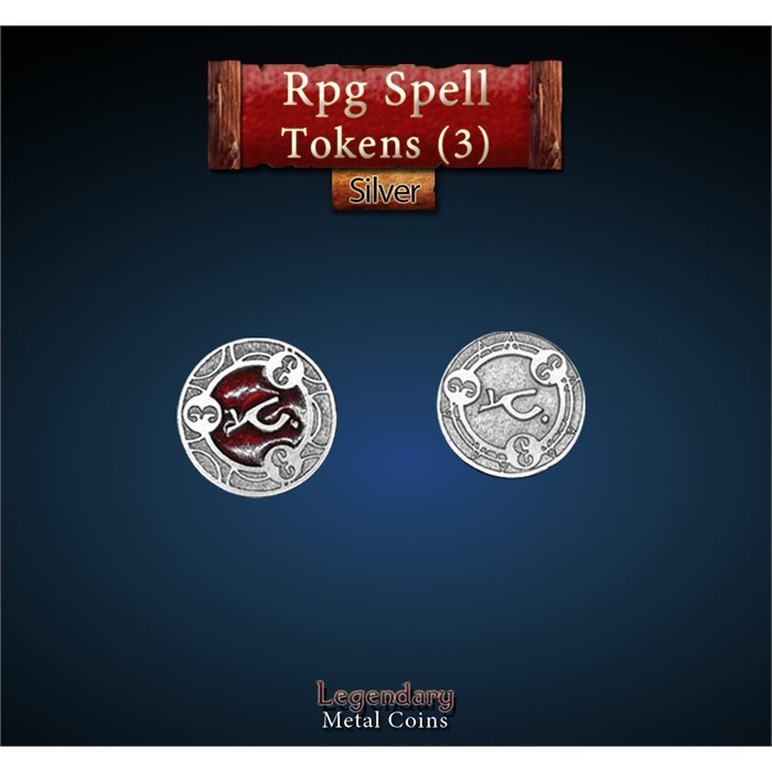 RPG Spell Token 3 - RED