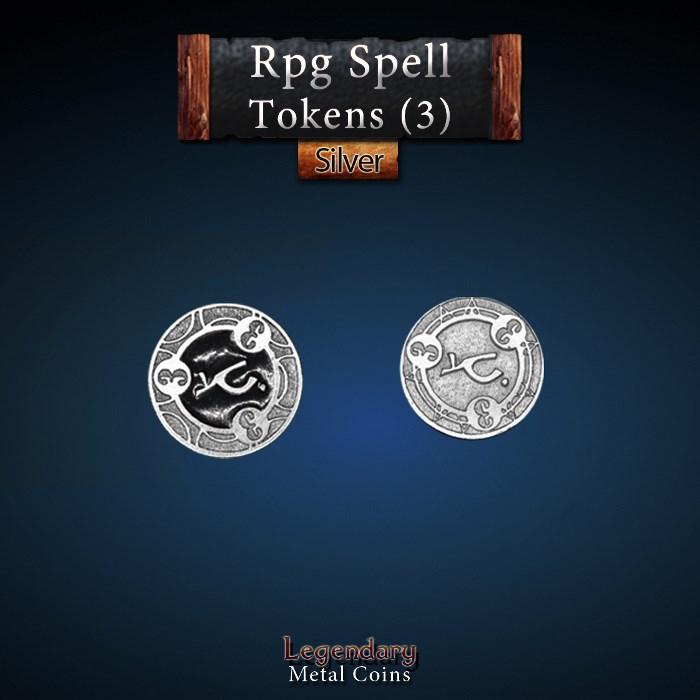 RPG Spell Token 3 - BLACK