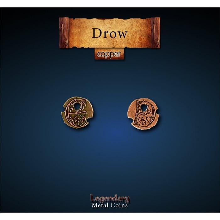 Drow Copper Coins