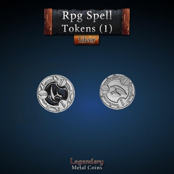 RPG Spell Token 1 - BLACK