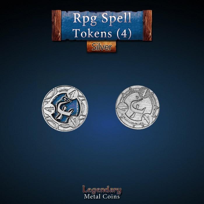 RPG Spell Token 4 - BLUE
