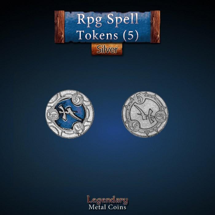 RPG Spell Token 5 - BLUE