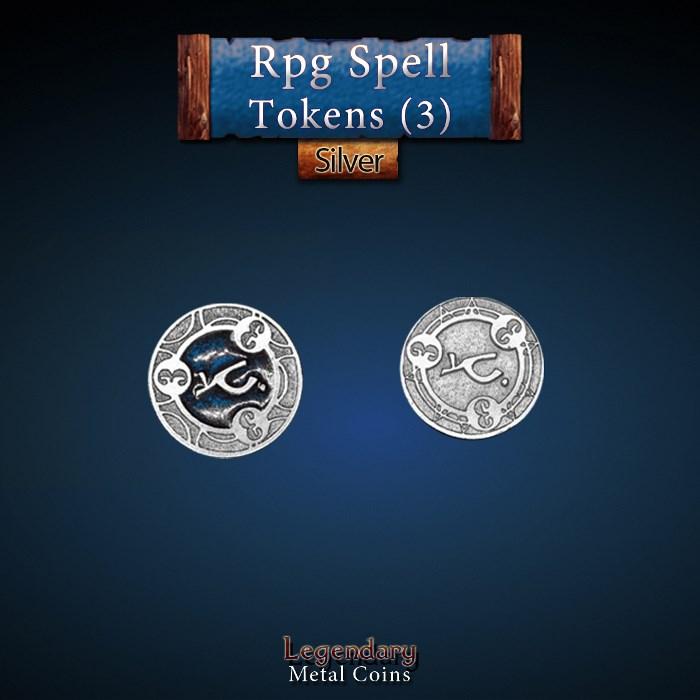 RPG Spell Token 3 - BLUE