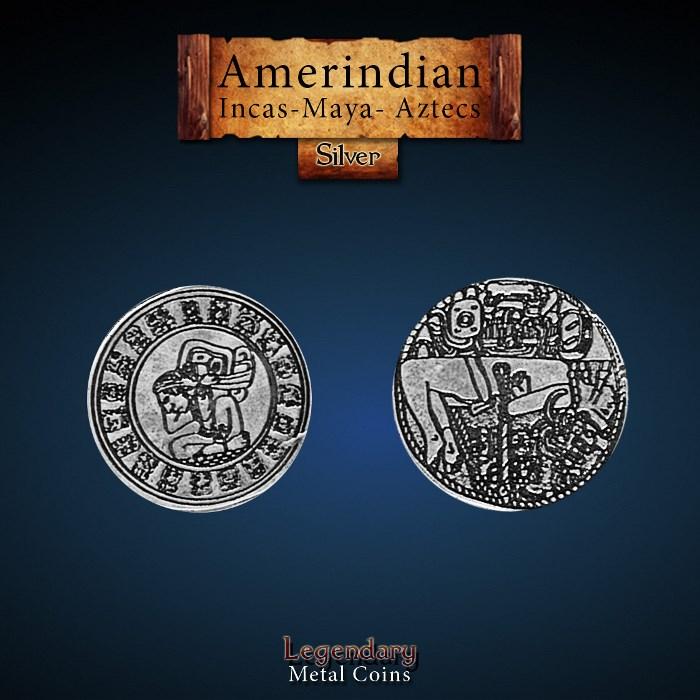 Amerindian Silver Coin