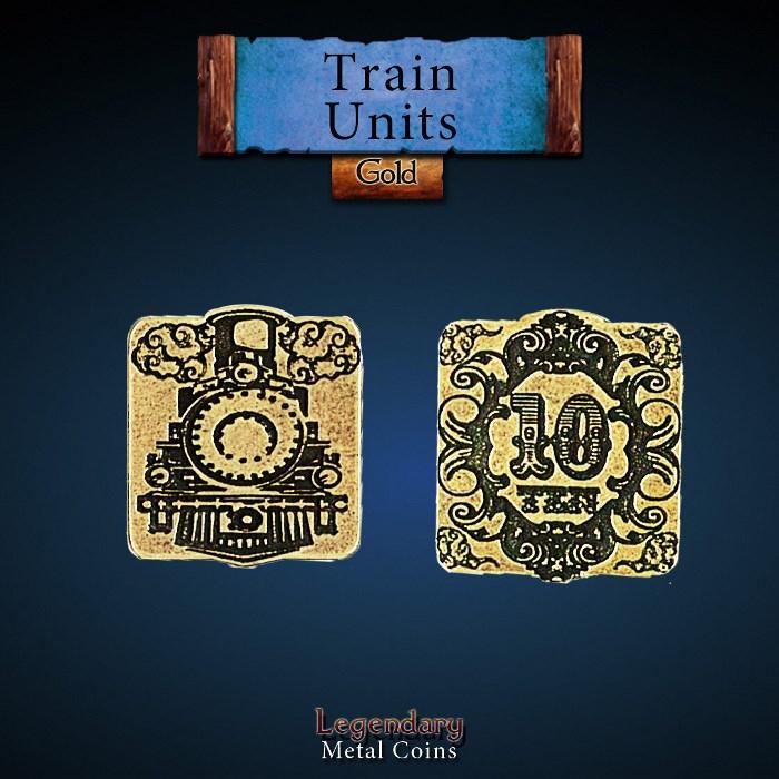 Train Units Gold Coin