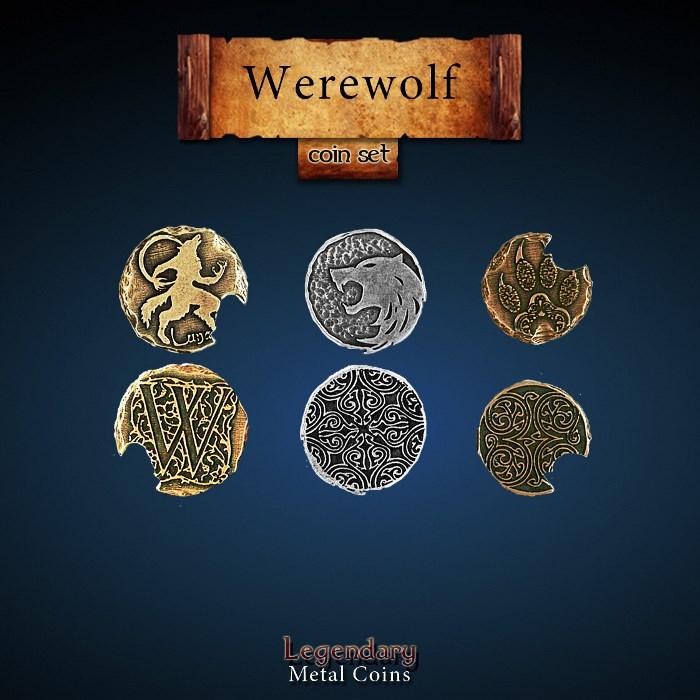 Werewolf Coin Set