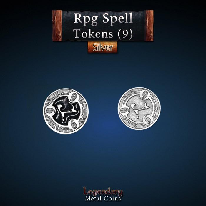 RPG Spell Token 9 - BLACK