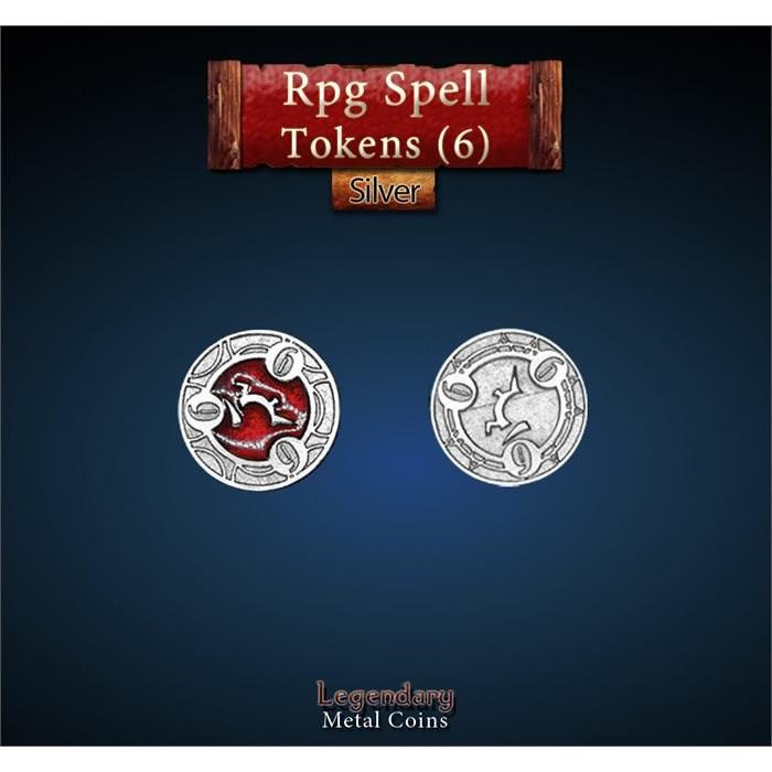RPG Spell Token 6 - RED