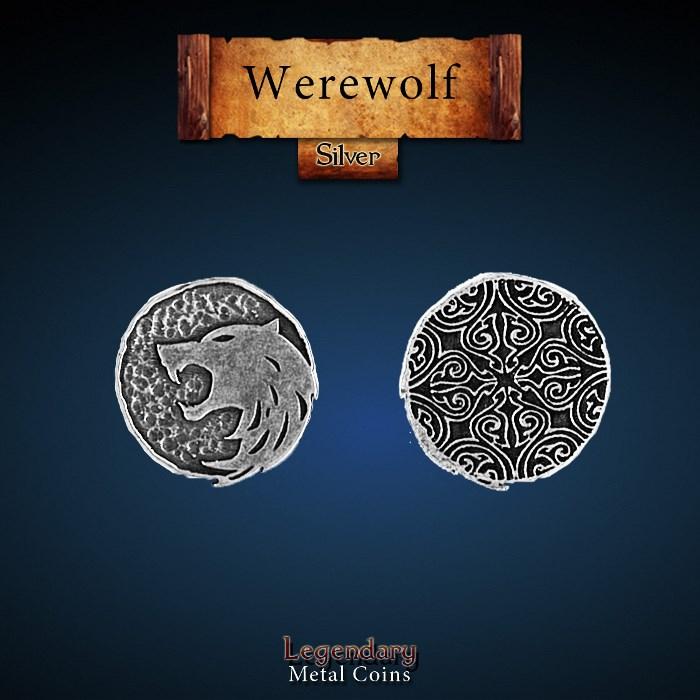 Werewolf Silver Coin