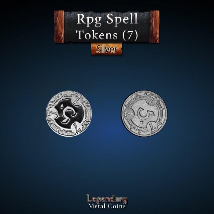 RPG Spell Token 7 - BLACK