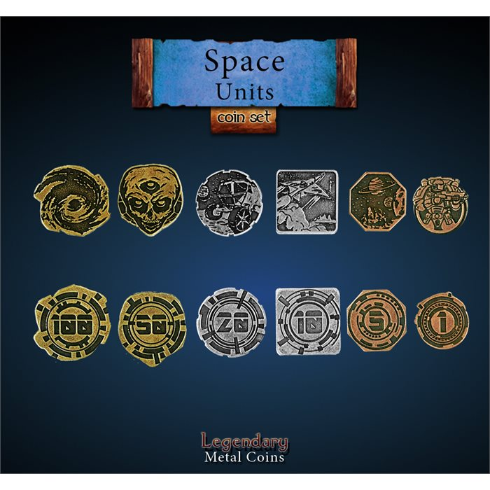 Space Units Coin Set