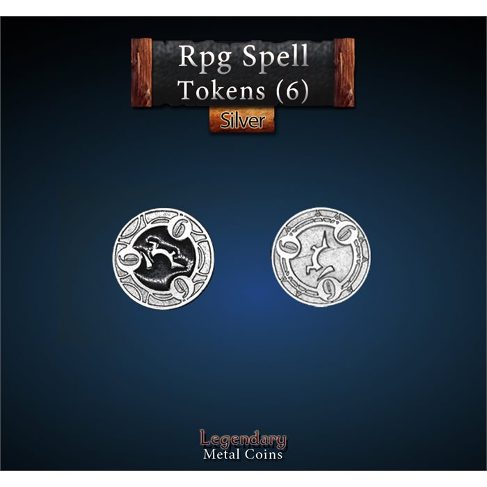 RPG Spell Token 6 - BLACK