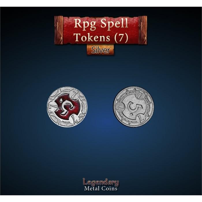 RPG Spell Token 7 - RED