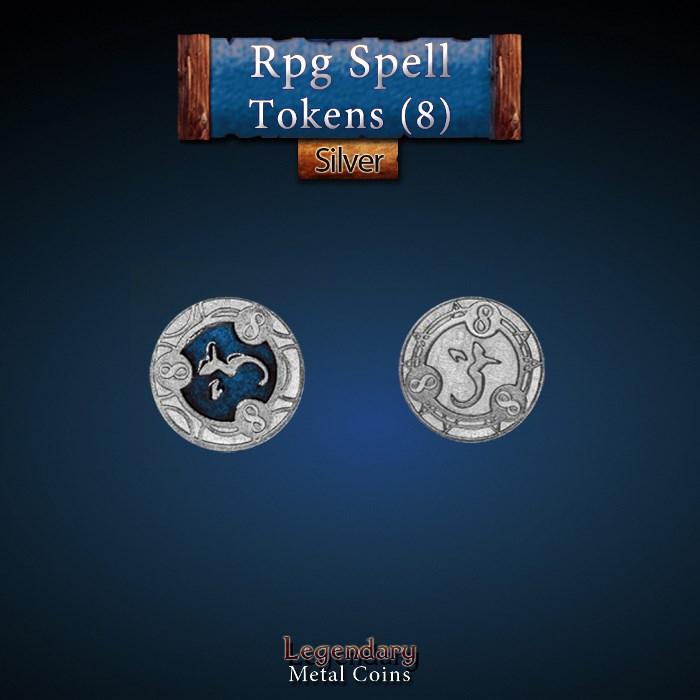 RPG Spell Token 8 - BLUE