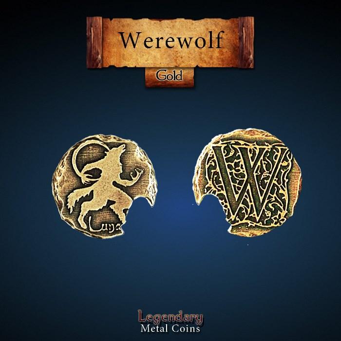 Werewolf Gold Coin