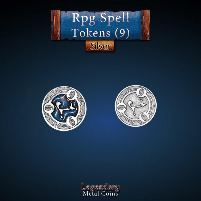 RPG Spell Token 9 - BLUE