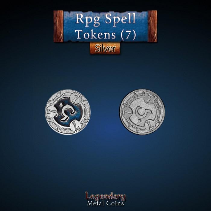 RPG Spell Token 7 - BLUE