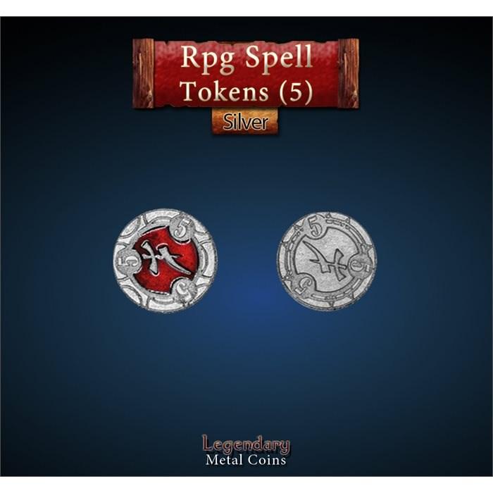 RPG Spell Token 5 - RED
