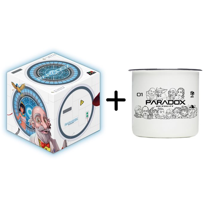 Paradox University Core Game + Enameled metal cups