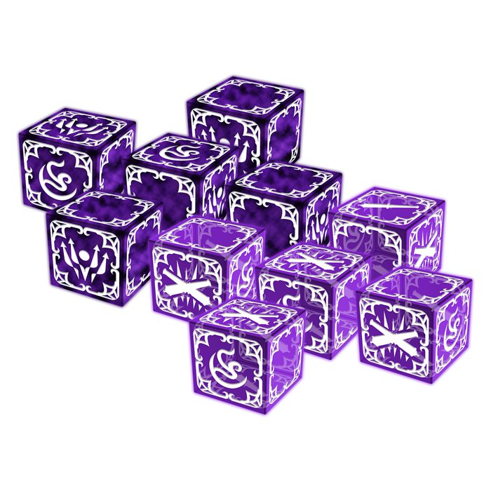 The Ivory Sword Dice Set