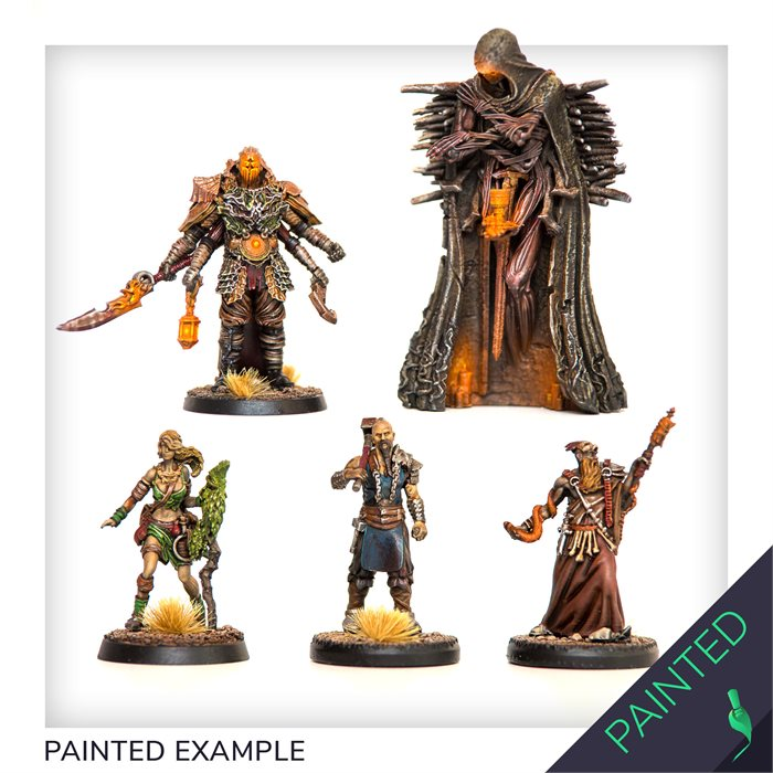 Painted mounted characters